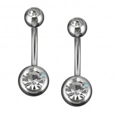 Stainless Steel Body Piercing Jewerllery - Gray