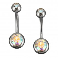 Stainless Steel Body Piercing Jewerllery - Clear Multi