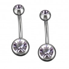 ETHAN Stainless Steel Body Piercing Jewerllery - Purple