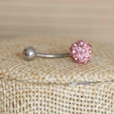 Stainless Steel Body Piercing Jewerllery - Pink