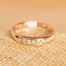 Rose Gold Plated Ring with Austria Rhinestone #8