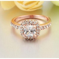 Rose Gold Plated Ring with Cubic Zorconia Stones #6