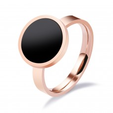 Rose Gold Plated & Enamel Stainless Steel Ring #8