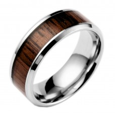 Imitation Wood Stainless Steel Mens Ring #8