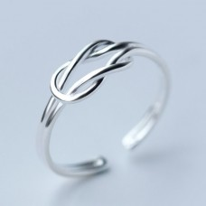 S925 Sterling Silver Love Knot Ring #8