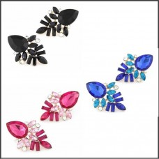 3Pc Crystal Earrings Set