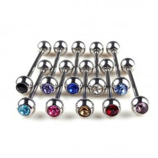 Stainless Steel Body Piercing Jewerllery - Clear
