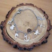 Stainless Steel 2mm Rolo kids Charm bracelet