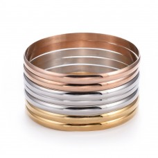 Gold Stainless Steel Ladies 5mm Bangle