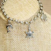 Stainless Steel Charm Bracelet SILVER 4mm