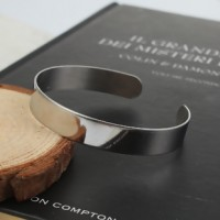 Stainless Steel Open Bangle 10mm