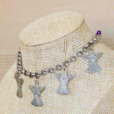 Stainless Steel Angel Charm Bracelet