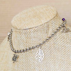 Stainless Steel FaithHopeLove Charm Bracelet SILVER 4mm