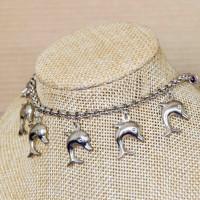 Stainless Steel Dolphin Charm Bracelet  4mm