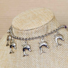 Stainless Steel Dolphin Charm Bracelet  4mm