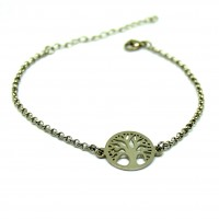 Stainless Steel Tree of Life  Bracelet