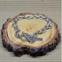 8mm Oval Stainless Steel Hope Bracelet