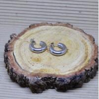 18mm Stainless Steel Thich Hoop Earrings