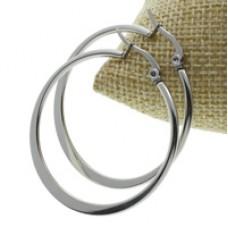 40mm Stainless Steel Hoop Earrings
