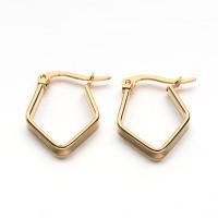 26mm Stainless Steel Gold Fancy Hoop Earrings