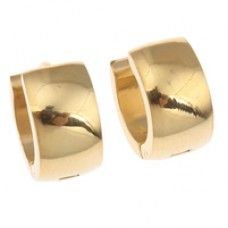 Gold Plated Stainless Steel Huggie Earrings