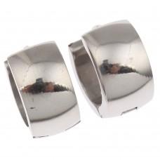 Silver Plated Stainless Steel Huggie Earrings
