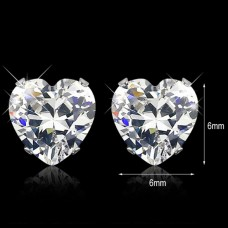 4mm Heartcut Stainless Steel Earrings