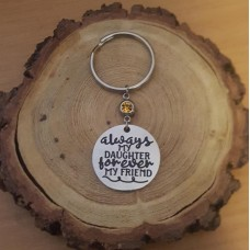 Stainless Steel Disc Keyring Daughter