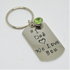 Stainless Steel Tag Keyring nr 1 Dad