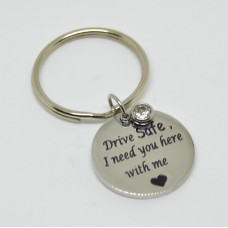 Stainless Steel Disc Keyring Drive Safe