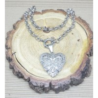 Stainless Steel 5mm Rolo Necklace with Locket