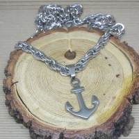 Stainless Steel 6mm Rope Necklace with Anchor