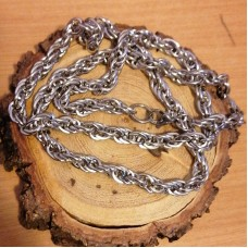 Stainless Steel 6mm Rope Necklace 65cm