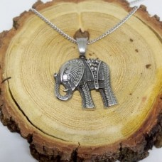 Stainless Steel Elephant 2mm Refined Curb Necklace