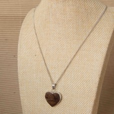 Solid Heart Stainless Steel Necklace