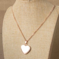 Rose Gold Solid Heart Stainless Steel Necklace