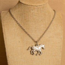 Solid Horse Stainless Steel Necklace