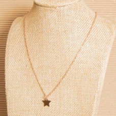 Rose Gold Small Star Stainless Steel Necklace
