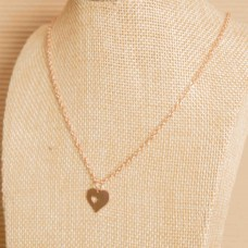 Rose Gold Small Heart Stainless Steel Necklace