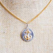 Anchor Gold Plated Stainless Steel Necklace