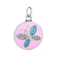 Stainless Steel Necklace with Butterfly Best Friend
