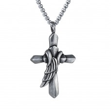 Stainless Steel UNISEX Necklace with Cross