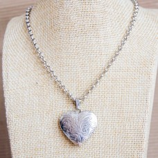 4mm Rolo Stainless Steel Necklace with Locket