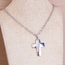 4mm Stainless Steel UNISEX Necklace with Cross