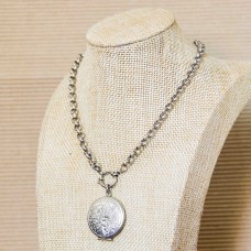 5mm Rolo Stainless Steel Necklace with Locket