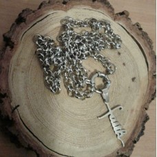 Stainless Steel Faith 5mm Rolo Necklace