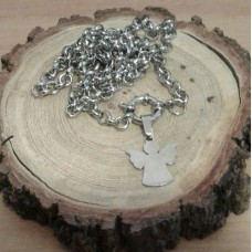 Stainless Steel Angel 5mm Rolo Necklace
