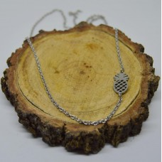 Stainless Steel Pineapple 2mm Oval Necklace