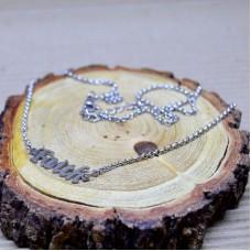 Stainless Steel asimetrical necklace - Faith
