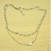 Stainless Steel multi layer Hearts Necklace